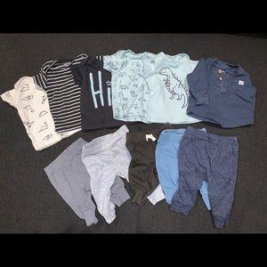 Blue Mix and Match Newborn Baby Sets